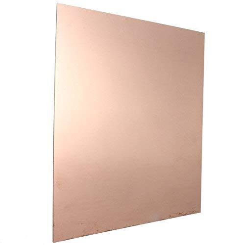 ChenXi Shop 1 Pieces 0.8mmx100mmx100mm 99.9/% Pure Copper Sheet Metal Plate