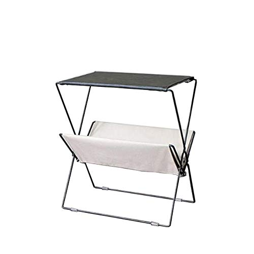 (Loft Floor Magazine Rack, Folding Wrought Iron Newspaper Rack, Living Room Book Shelf Storage Stand Side Table-A 50x30x55cm(20x12x22inch))