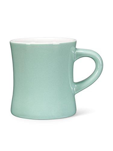 Set 6 Retro Turquoise Porcelain Diner Demitasse 12oz Tea Coffee Cups Mugs Retro 6 Cup