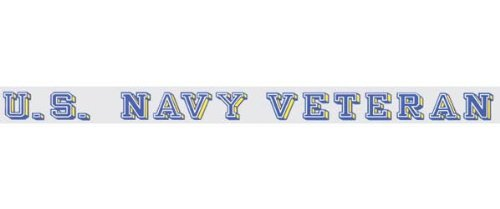 U.S. Navy Veteran - Window Strip Decal (Decal Window Sticker Strip)