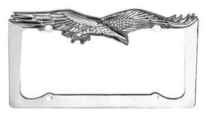 chrome license plate frames flying eagle license plate