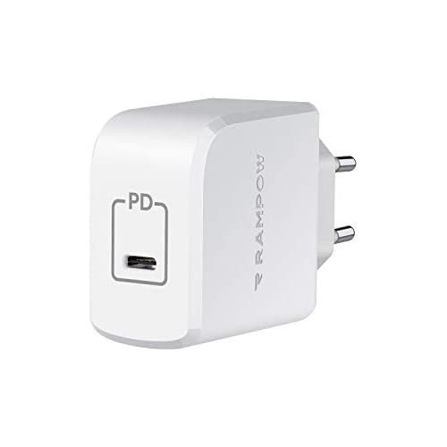chollos oferta descuentos barato RAMPOW Cargador USB C GAN Tech 61W Cargador de Pared con PD 3 0 y QC 3 0 Carga Rápida para MacBook Pro 2020 2019 2018 Macbook Air 2020 2019 2018 DELL XPS 13 iPad iPhone Nintendo Switch y más