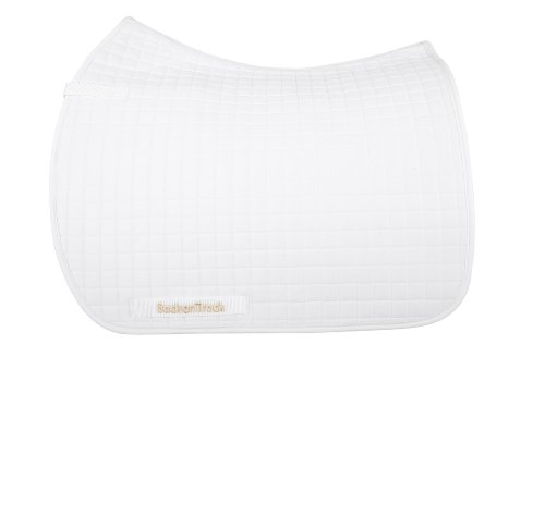 (Back on Track Therapeutic Horse Dressage Saddle Pad, 22-Inch Spine by 21-Inch Drop, White)