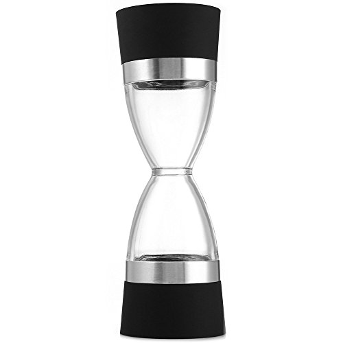 VEIREN 2-IN-1 Hourglass Shape Double Ended Salt & Pepper Grinder Spice Mill Shaker with Ceramic Core for Solid Granular Ingredients Kitchen Cooking Aids