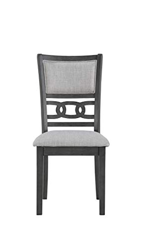 New Classic Furniture Gia Round Dining Set, Gray - Expertly constructed of Mindi and rubber wood solids and veneers Finished in a rich ebony color versatile with any Décor Reverse Diamond match veneer tops - kitchen-dining-room-furniture, kitchen-dining-room, dining-sets - 31ZpRQvI3%2BL -