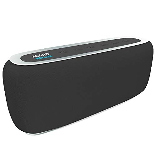 AGARO – 33229 Indulge Portable Bluetooth Speaker with FM, Mic, Clock & TF Card Slot (Black)