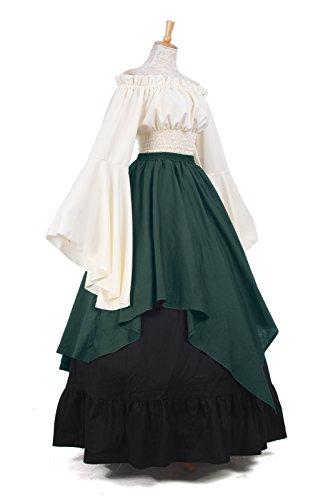 ni Nuoqi Damen Kleid Gc229c Kleid Langarm Mittelalterliche Party Kostüm Maxi Königin wvxqfrTw