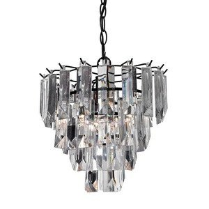 Sterling Industries 122-017 Rasen - Rasen - One Light Drop Pendant, Dark Bronze Finish with Clear Acrylic Glass