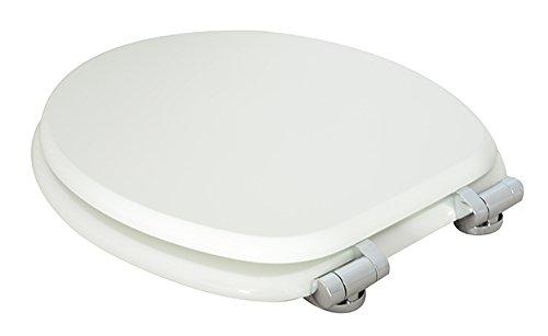 ED09010SC MDF und Absenkautomatik WC Sitz mit Holzkern Wei/ß