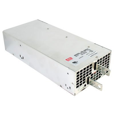 "Mean Well SE-1000-12 Enclosed Switching AC-to-DC Power Supply, Single Output, 12V, 83.3A, 999.6W, 2.5"" H x 5"" W x 10.9"" L"