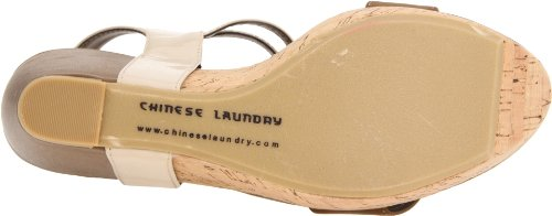 Chinese Laundry Womens Go Getter Sandal Taupe/Dark Brown 4f9ftfEb