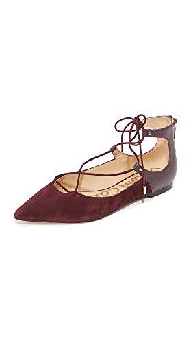 Women's Edelman Toe Flat Rosie Sam Wine Pointed Port qSRnHWC