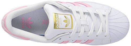 Adidas Originaler Superstjerne FunDamet J Sneaker Hvid / Klar Lys Pink Metallic / Guld kdHKNak