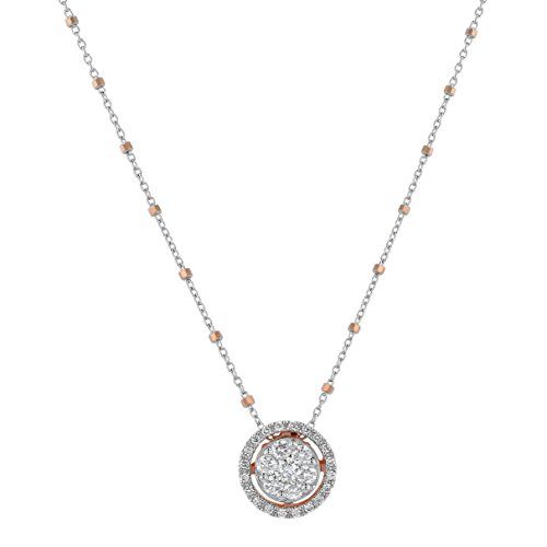 Olivia Paris Certified 14k Two Tone Gold Diamond (0.70 cttw, H-I Color, SI1-SI2 Clarity) Necklace 18