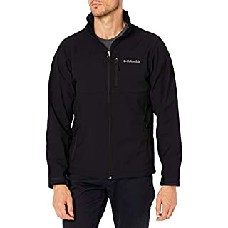 Columbia Men's Ascender Softshell Front-Zip Jacket, Black, 3X