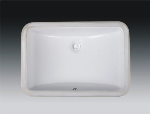 Wells Sinkware Rectangular Vitreous Ceramic Lavatory Single Bowl Undermount White 21 x 15 x 7