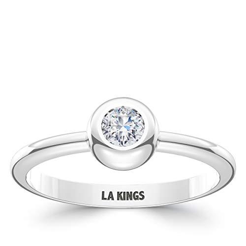 Bixler Los Angeles Kings La Kings Engraved Diamond Ring (Los Angeles Kings Burger King Jersey For Sale)