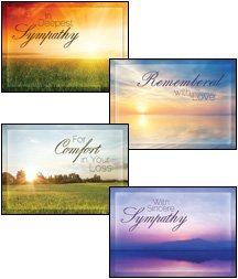 Beyond the Sunset - KJV Scripture Greeting - Boxed - Sympathy