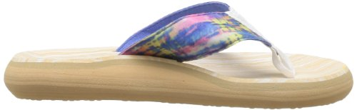 Rocket Dog Womens Spotlight Thong Sandals Blue Rainbow Dye 3fBcuU