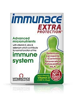(4 PACK) - Vitabiotics Immunace Extra Protection Tablets | 30s | 4 PACK - SUPER SAVER - SAVE MONEY