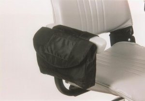 E-Wheels Standard size Saddle Bag for Mobility Scooters in Black Color