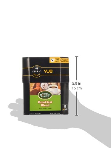 Green Mountain Coffee Breakfast Blend, Vue Cup Portion Pack for Keurig Vue Brewing Systems, 16 Count by Green Mountain Coffee Roasters (Image #8)