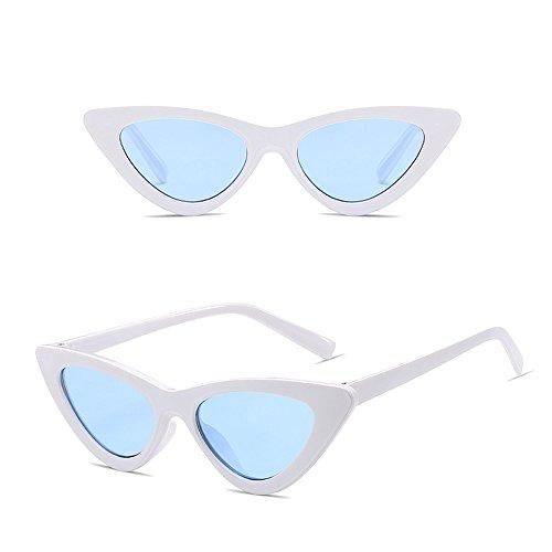 Lunettes polarisées de soleil KINDOYO Cadre soleil Lentille de non Femmes soleil soleil Oeil chat Bleu de de Blanc lunettes lunettes UV lunettes de rétro 77Hq5