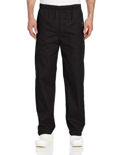(Landau Men's Elastic Drawstring Scrub Pant, Black, Medium/Short)