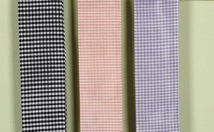 Check Sash - Jubilee Collection Medium Lamp Shade Sash (Pink Check)