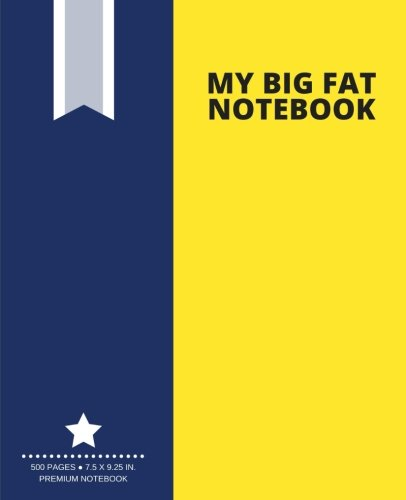 my-big-fat-notebook-500-pages-yellow-extra-large-notebook-journal-diary-7-5-x-9-25-in-creative-collection