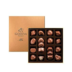 Godiva 18 Piece Milk Chocolate Connoisseur Chocolate Box 220g