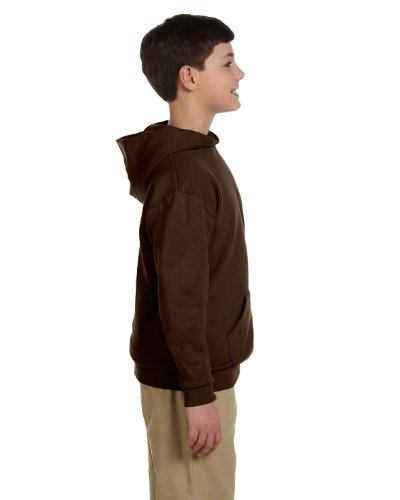 (Jerzees Big Boys Drawcord Pullover Hooded Sweatshirt, Chocolate, Large)