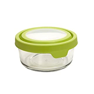 Anchor Hocking Trueseal Glass Food Storage Containers Airtight Lids, 2 Cup, Green (Pack of 6) -