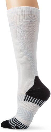 Zoot Sports Women's Ultra 2.0 CRX Socks, White/Graphite, 3 ()