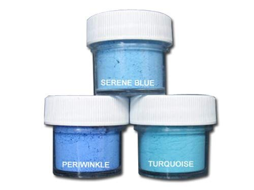 Petal Dust Set of 3 Serene Blue/Periwinkle / Turquoise