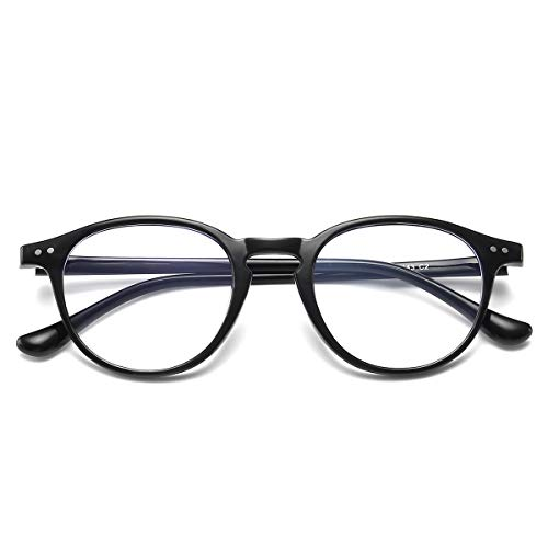 (Blue Light Blocking Glasses Vintage Round Frame Eyeglasses for Women Men)
