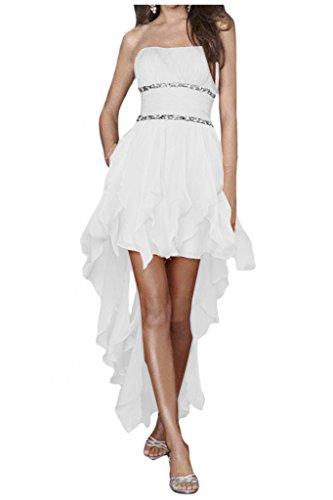 Gorgeous Bride Zaertlich Traegerlos HiLo Chiffon Kristall ...