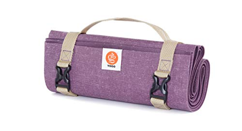 Ultralight Travel Yoga Mat, Folding with Integrated Straps and Handle for Carry...