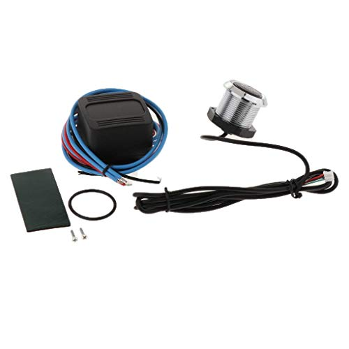 Backbayia Engine Start Switch and Relay Box Car Starter Kit: