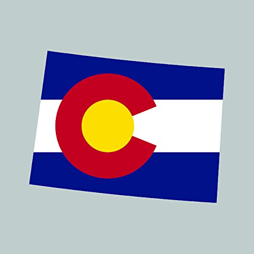Two Pack Colorado State Shaped Flag Sticker Self Adhesive Vinyl Decal CO