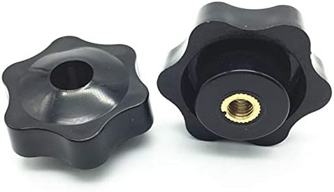 Color : B Type, Size : M6 38 5pcs M6 M8 M10 Plum Bakelite Hand Tighten Nuts Handle Thread Star Mechanical Black Thumb Nuts Clamping Knob Manual Nuts WSF-Adapters