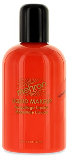 Mehron Makeup Liquid Face and Body Paint (4.5 oz) (GLOW ORANGE)