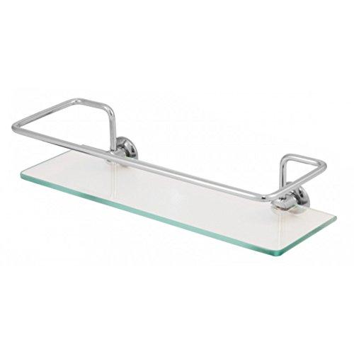 Porta Shampoo Reto 30x10cm com vidro Cristal (transparente) de 6mm