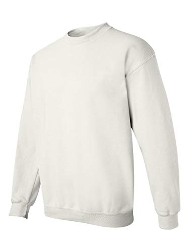 - Gildan Men's Heavy Blend Crewneck Sweatshirt - Large - White