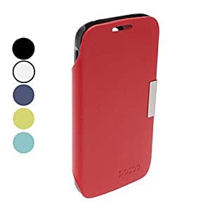 Solid Color PU Leather Full Body Case with Stand for Samsung Galaxy S4 I9500 (Assorted Colors) --- COLOR:Red