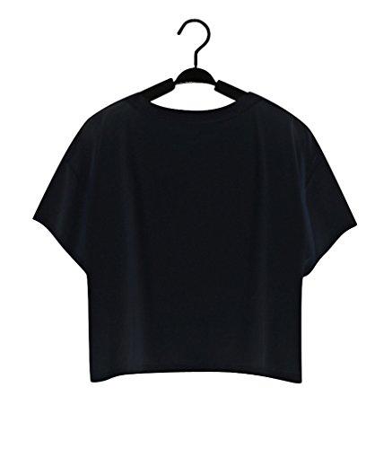 Pretty321 Women Girl Lovely Black Cat Cross 3D Crop Top Tee Cute T shirt Amazon