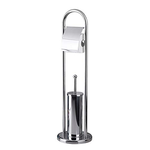 Toilet Brush Floor-Standing Web Towel Holder, Stainless Steel Toilet Butler, Multi-Function Toilet Paper Holder ZDDAB