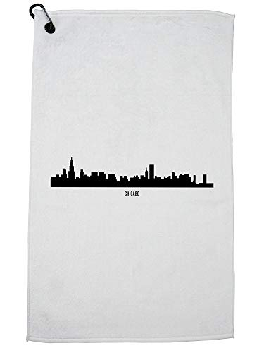 Chicago Bears Cart Bag Golf - Hollywood Thread Chicago Skyline - Chicago Strong - Illinois Golf Towel with Carabiner Clip