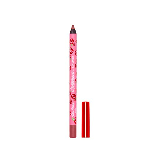 Lime Crime Velvetines Lip Liner (Gurrrl). Long Lasting Red Brown Matte Lip Lining Pencil (0.042oz / 1.20 g)