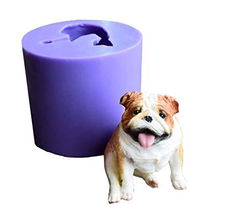 Candy Bulldog (Runloo 3D Dog Silicone Mold Mould Puppy Chocolate Cake Mold Bulldog Cake Fondant Soap Mould)
